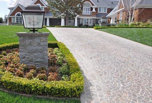 driveway ideas driveway design - cobblestone BSMUTZU