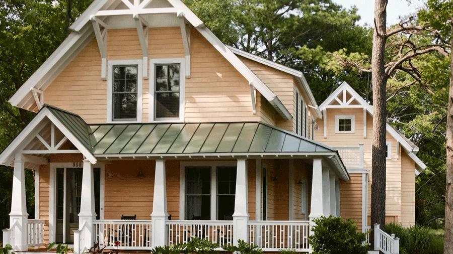 exterior paint colors choose color as contrast to the landscape FLEMPPT