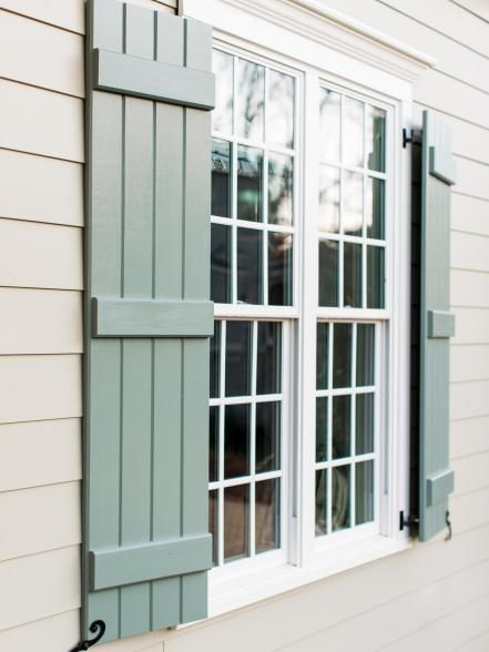 exterior shutters pictures of the hgtv smart home 2016 front yard. modern shutterswindow shutters  exteriorcottage ... FPDGUGA