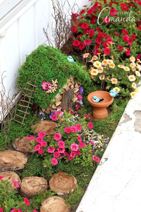 fairy garden ideas planter box fairy garden JQUDWHK