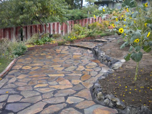 flagstone pavers mclaughlin landscaping KNFKTJK