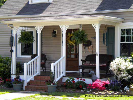 front porch ideas an american flag and front porch - just meant for each other KWZMRMH