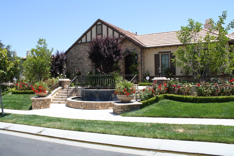 front yard fountain, front yard stairs front yard landscaping the green  scene chatsworth, ca RJMSSNE