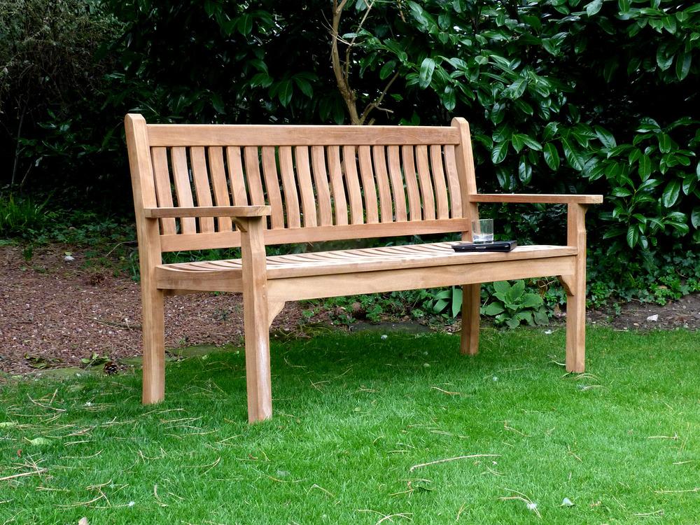 garden benches westminster flat arm teak bench 150cm flat arm teak bench 150cm JGLBZPD