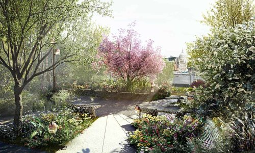garden bridge may 2015: the trust released information regarding the garden designs,  which will feature trees, plants, shrubs HRKPETO