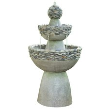 garden fountains natural stone outdoor garden zen 3 level fountain KWHLKZK