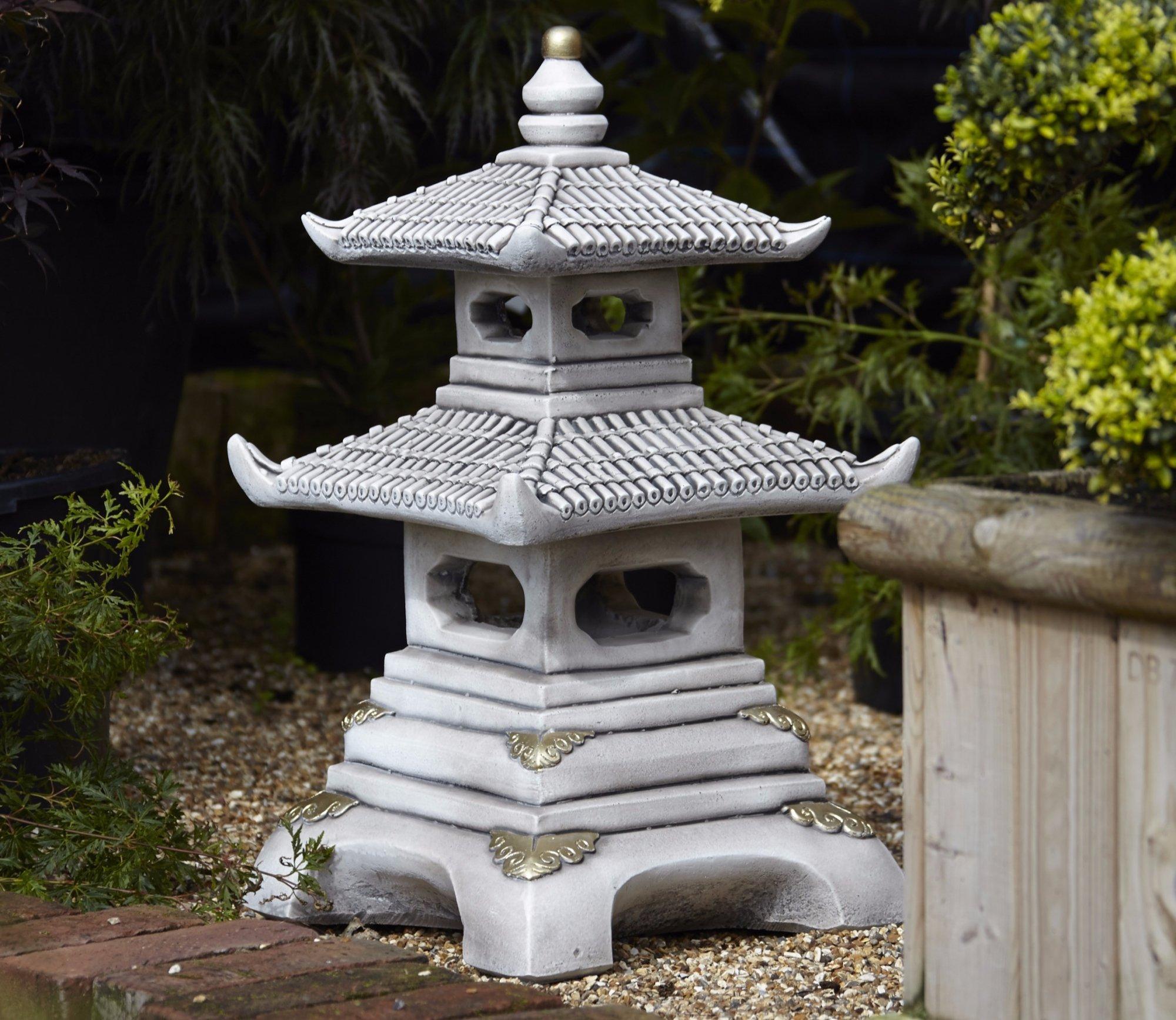 garden ornaments borderstone two tier pagoda garden ornament WJMEZBR