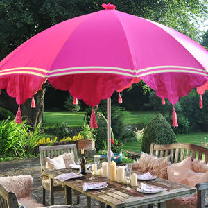garden parasols garden parasol with tassels and ribbons - al fresco dining PDXSOAI