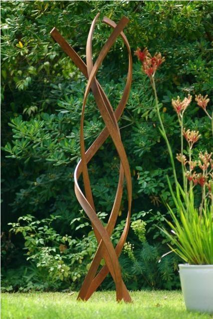 garden sculptures garden - sculpture in corten / kunstobject voor in de tuin in cortenstaal LFKVMXN