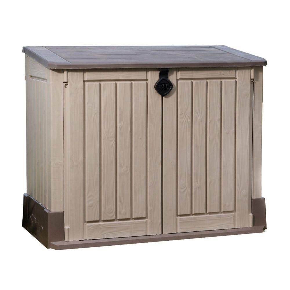garden storage 4 ft. x 2 ft. store-it-out midi horizontal resin shed JZDEPME