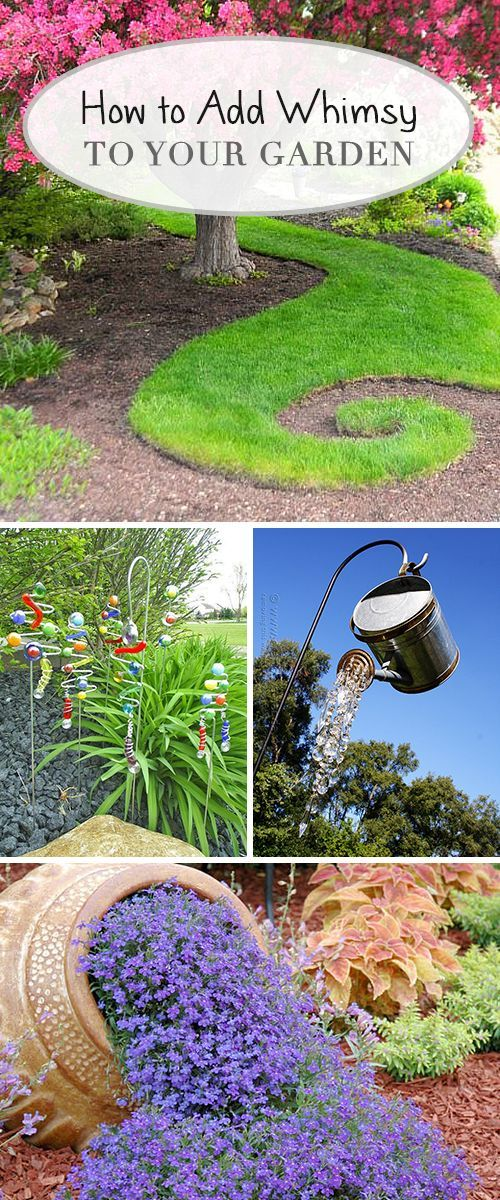 gardening ideas how to add whimsy to your garden! - learn how to add whimsy to your AJEHSNF