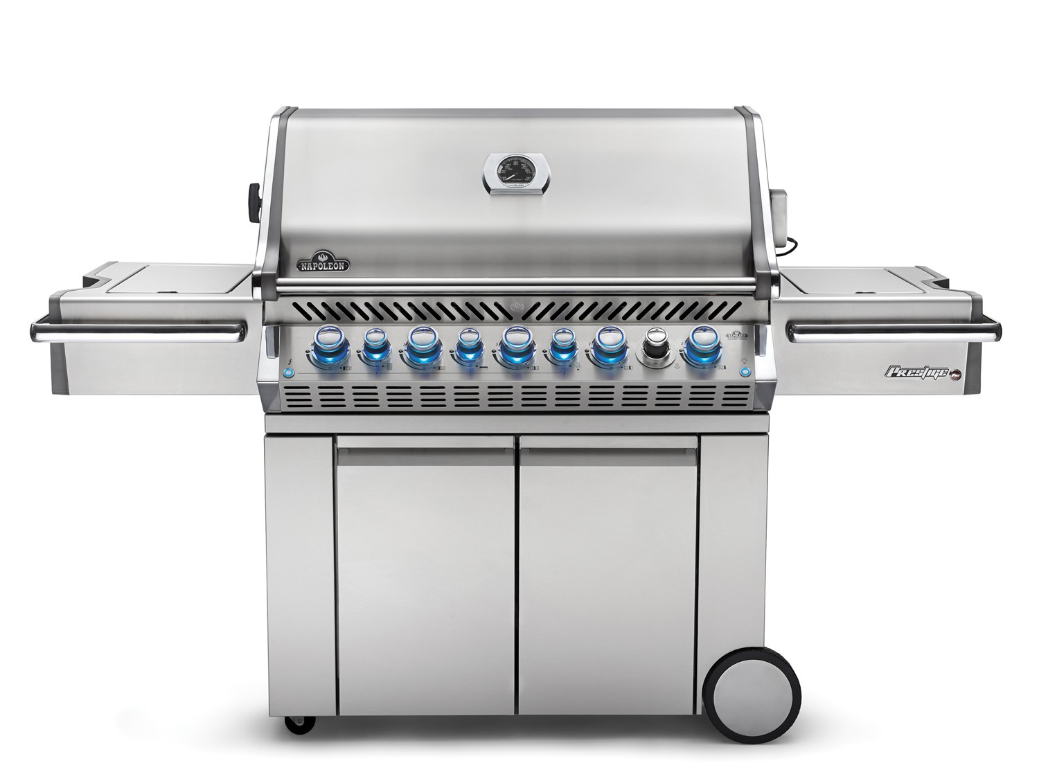 gas grills shop | napoleon pro665rsibss-2 prestige pro 665 gas grill on cart with  rotisserie and side burner JCSTHPD