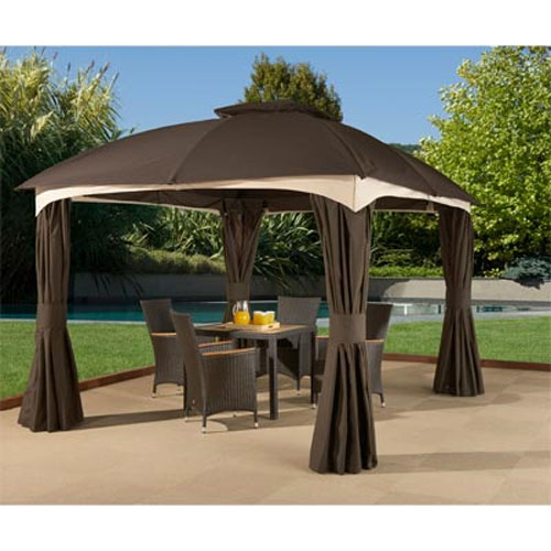 gazebo canopy samui 10 x 12 gazebo replacement canopy and netting - riplock NGTBVNC