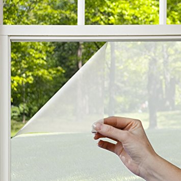 gila pfw486 privacy residential window film, frosted, 48-inch by 6-1 PQLVNDE