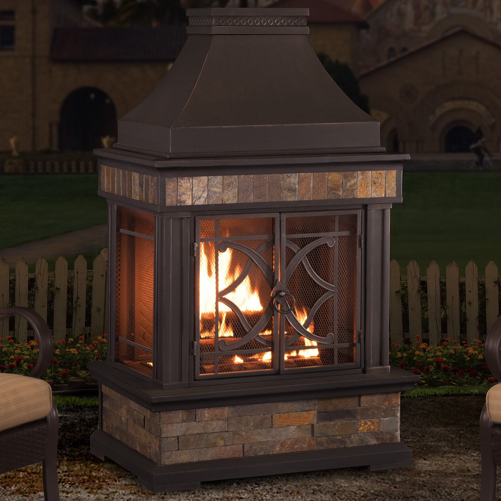 heirloom steel wood burning outdoor fireplace TDSQUDI