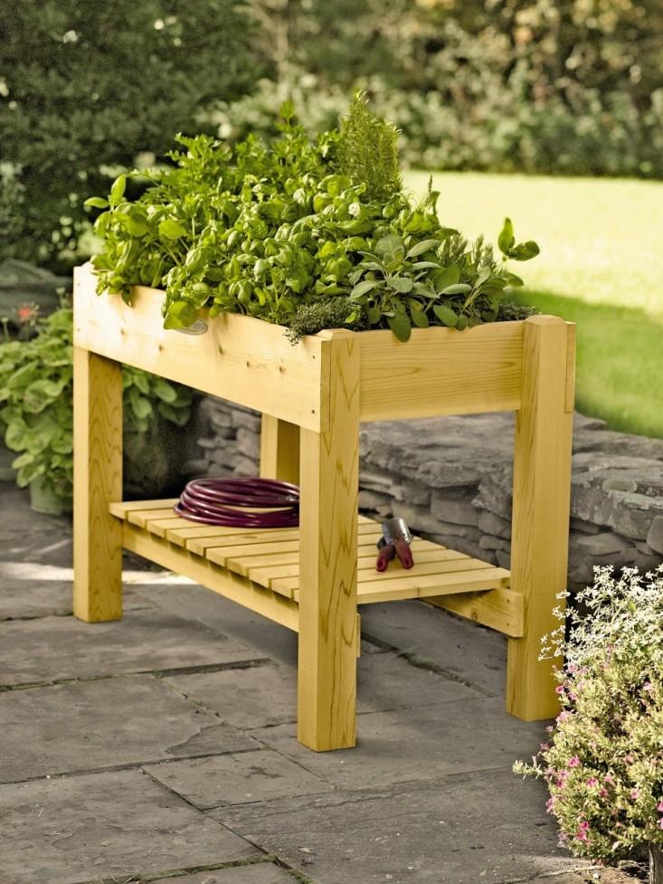 herb garden table with shelf NMDXREU