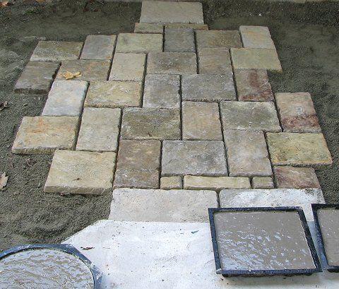homemade paver stones image http://www.themoldstore.us/productinfo. KIEGQNQ