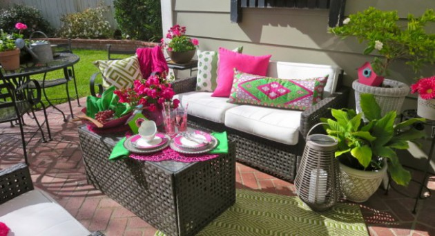 how garden color inspires outdoor decor CBNPQGU