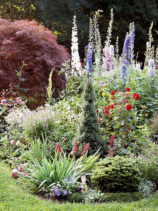 how to create an easy cottage garden IJTXFRU