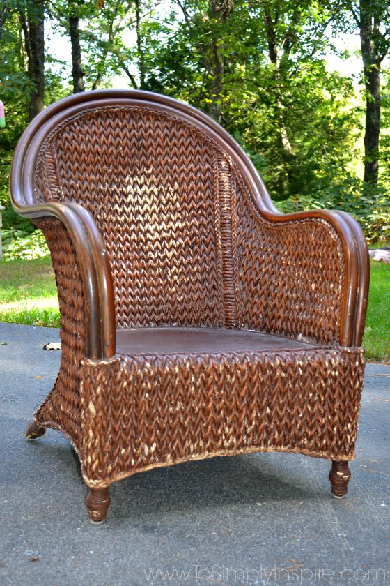 how to paint wicker furniture with a brush1 OBWVNGD