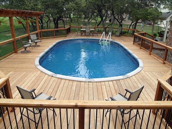 ideas above ground pool deck plans XYCIZJO