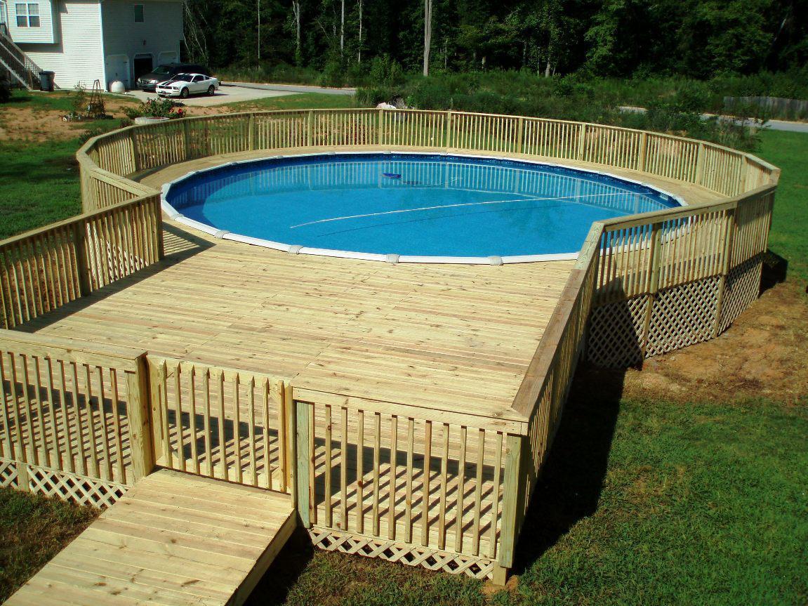 image of: 24 above ground pool deck plans MRUEFAW