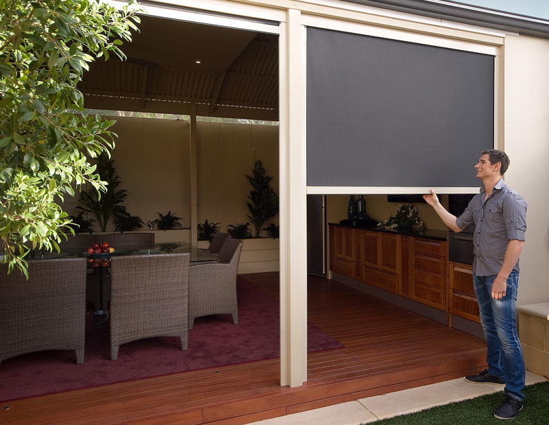 image of: black outdoor blinds for patio KKFTNGJ