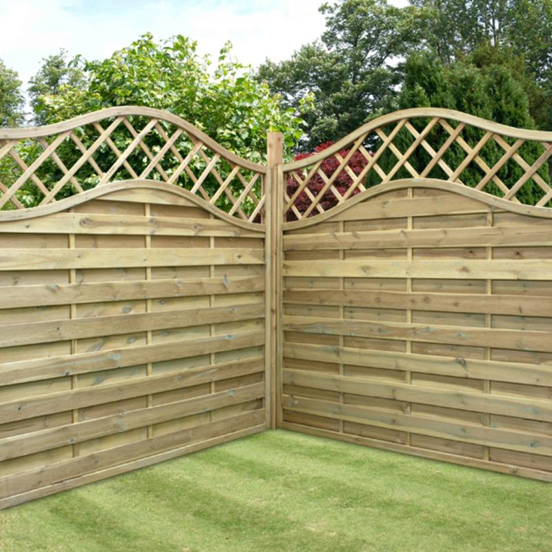 image of: garden fence panels corner DSACKWH
