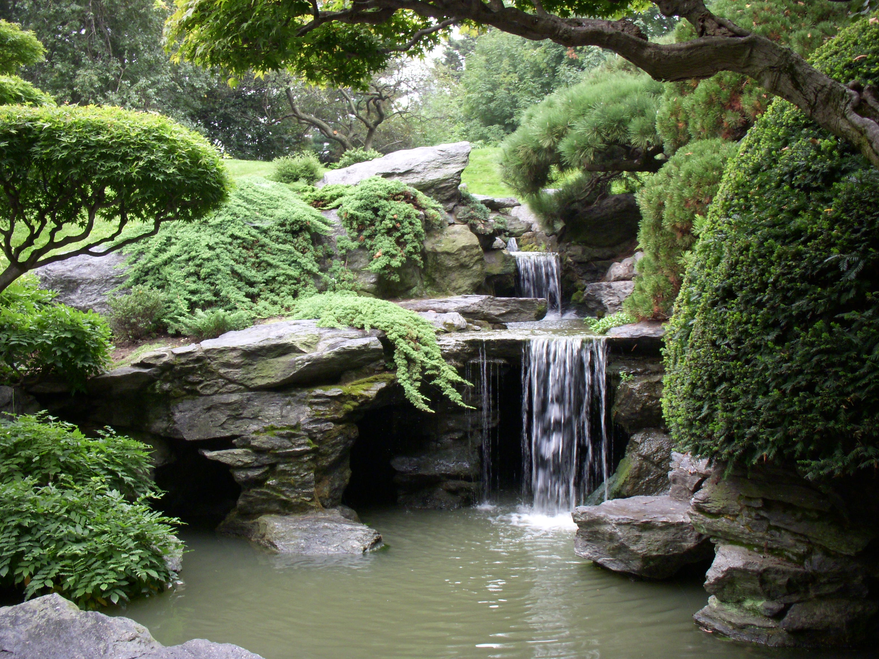 japanese garden 2009 june 19 stream and pond r bbg KSHDTJT