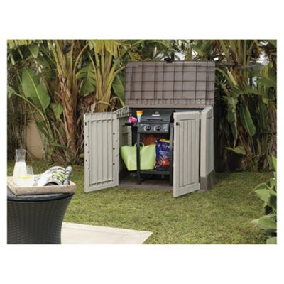 keter store it out midi plastic garden storage, 121x64cm YMSJHIP