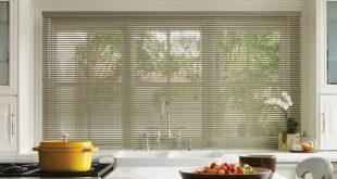 kitchen window metallic aluminum blinds CKSDAJY