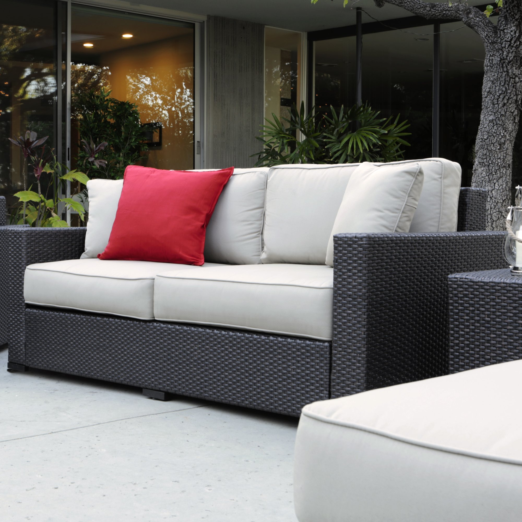 laguna outdoor sofa with cushions WLCWDCE