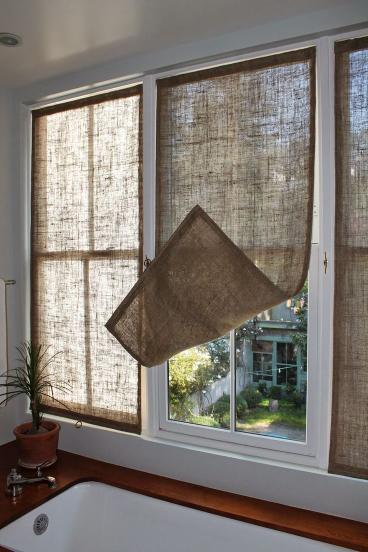 last week i made some new burlap window coverings for the master bathroom.  i made MRCYQWC