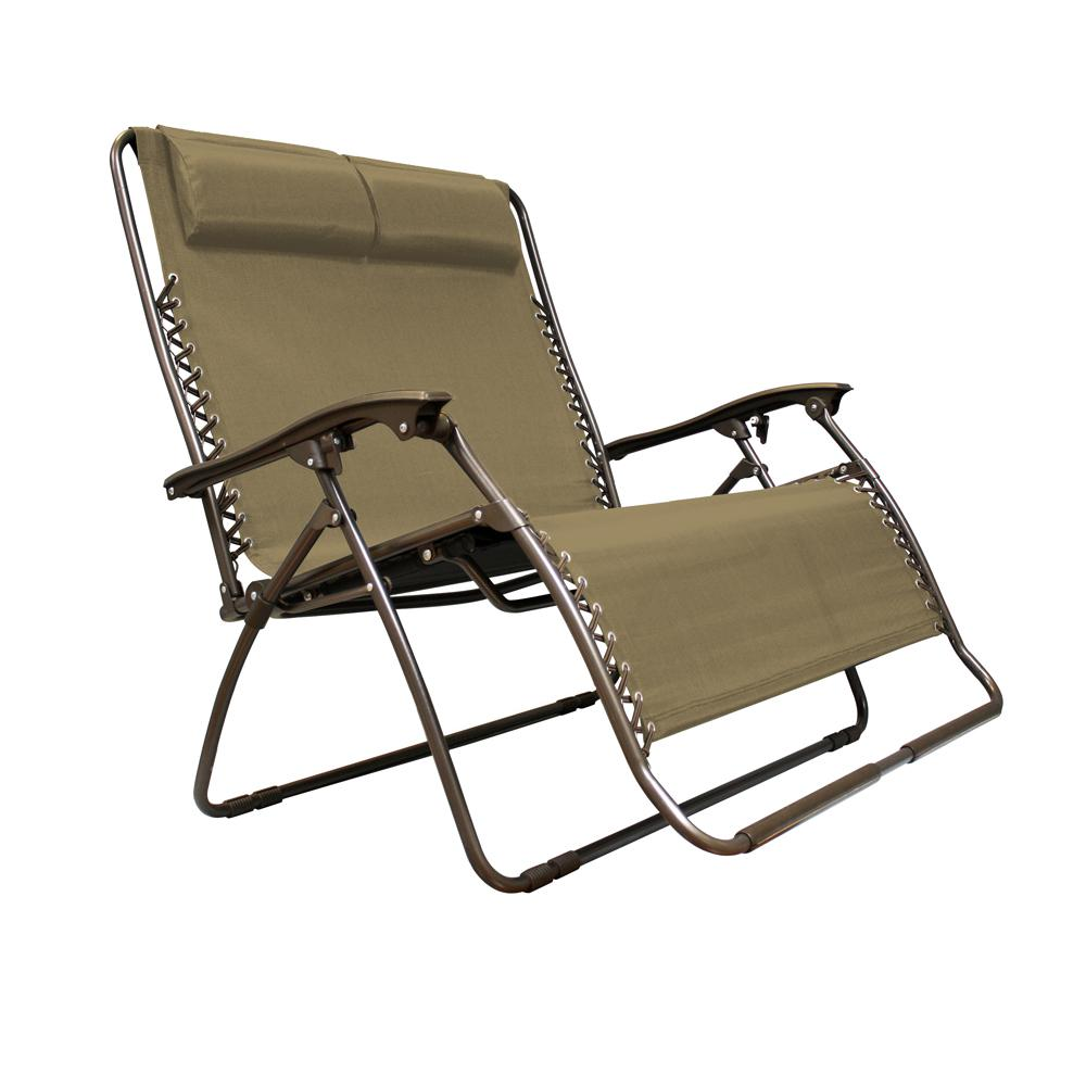 lawn chairs infinity love seat beige metal textilene reclining patio lawn chair XAILUVZ