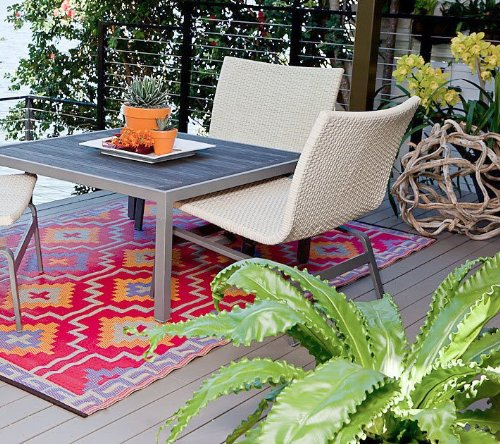 lhasa - orange u0026 violet patio indoor outdoor rugs ZCBJZOJ