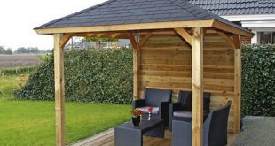 log cabin lugarde sophia wooden gazebo - 2.4 x 3.0m JLYQHKD