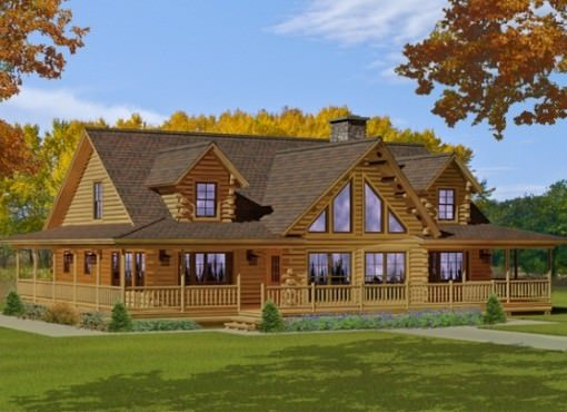 log home plans bonanza FUMJQPR