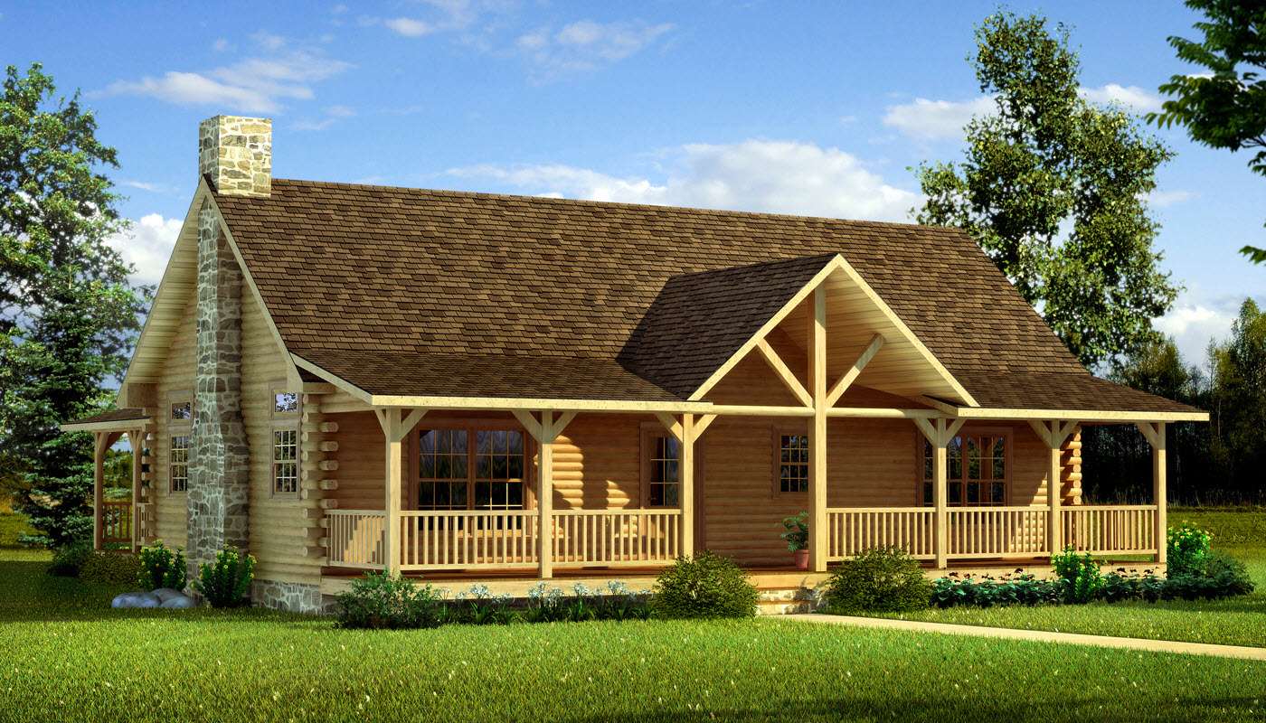 log home plans danbury main photo - southland log homes NEFFLAT