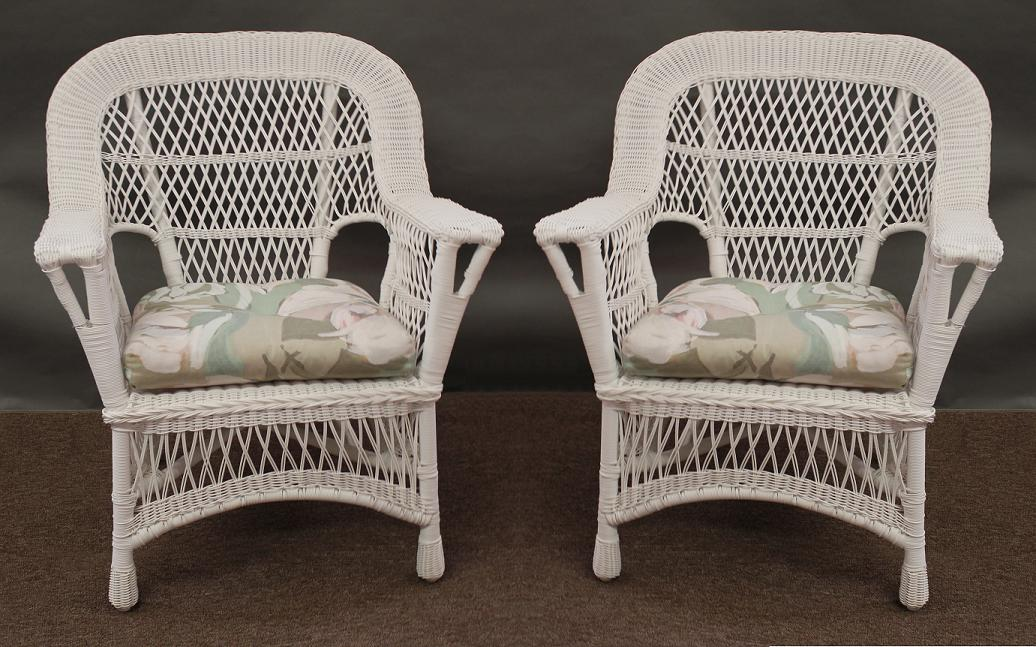 mackinac all weather wicker chairs - set of 2 1 UBJZCUD