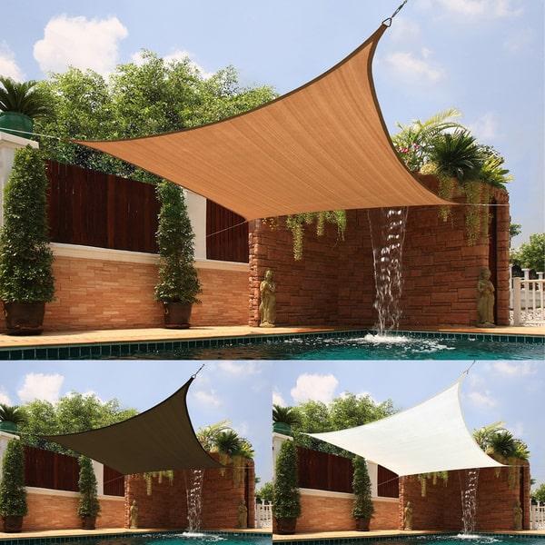 medium square sail extra-heavy fabric sun shade ERKJZXQ