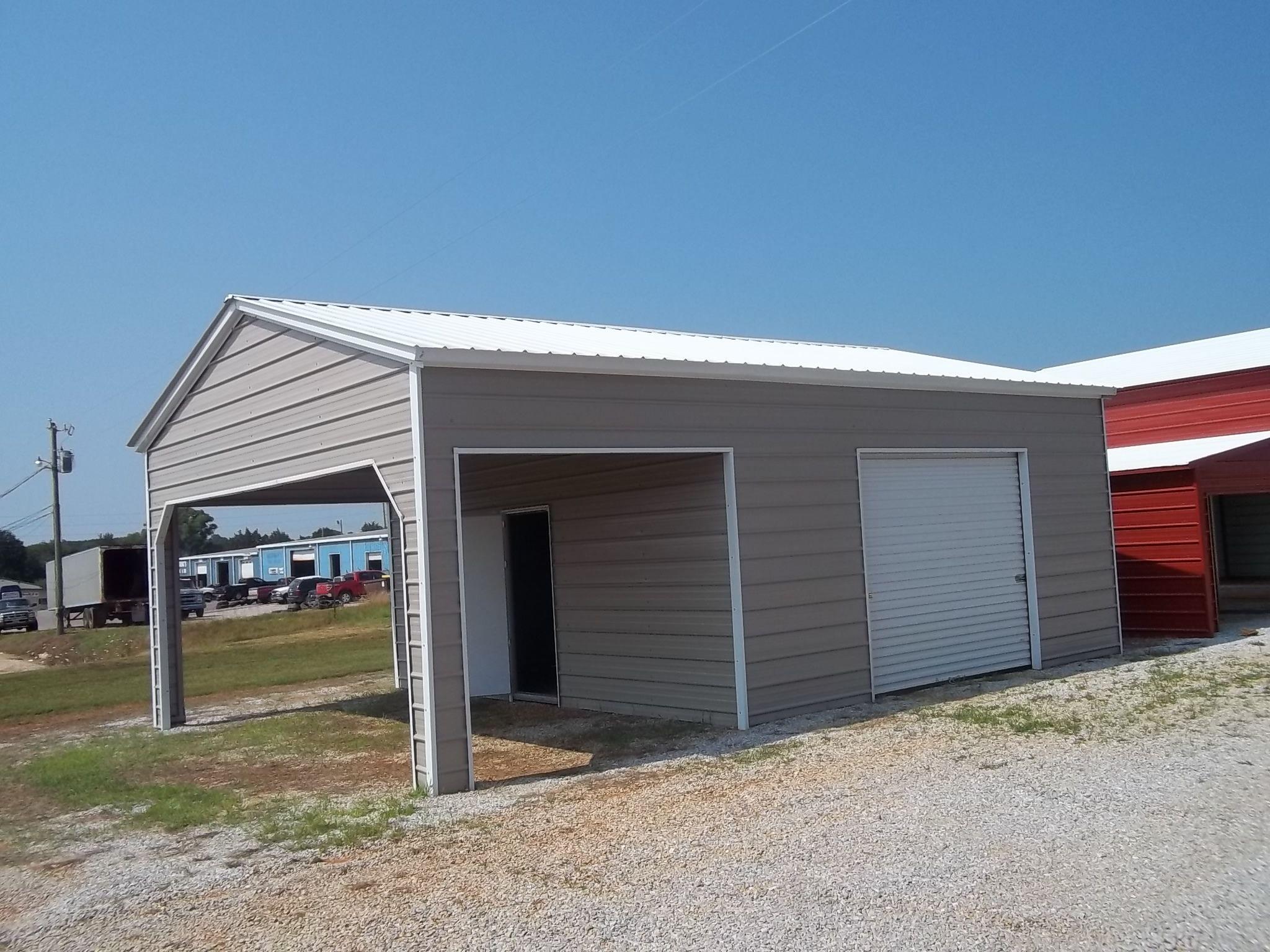 metal garages 20 x 26 x 10 combo garage OEULVER