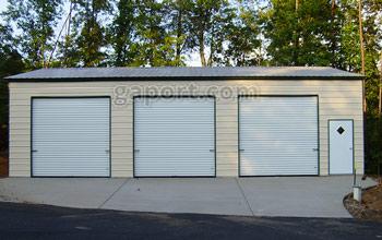 metal garages three roll up garage doors and walk thru door shown on this 30x45x12x16.3  metal WTQJEWA