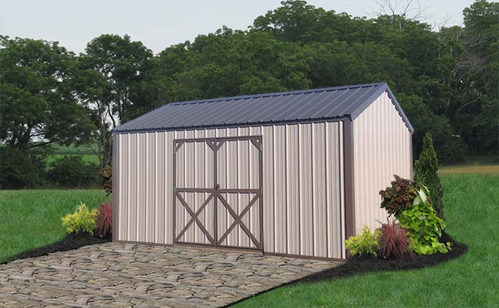metal sheds liberty-storage-metal-utility-shed-tan-10x16.jpg QSQBELE