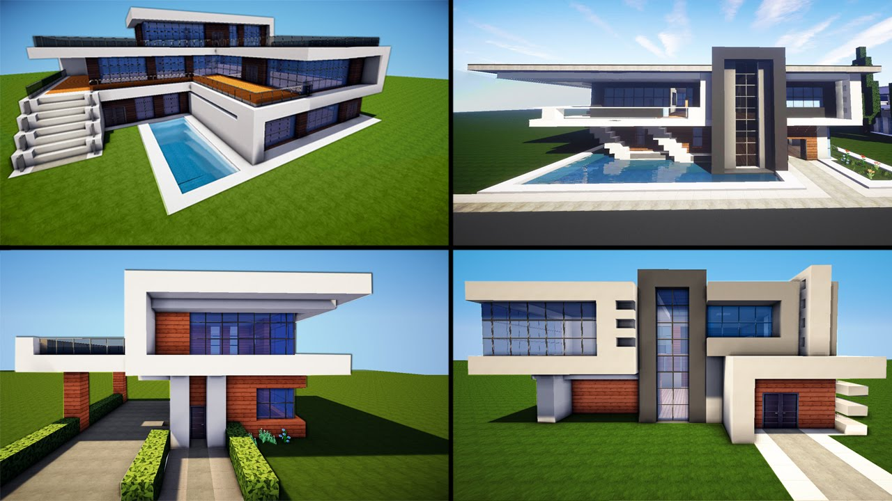 minecraft: 30 awesome modern house ideas + tutorial + download 2016 IWTHSFM