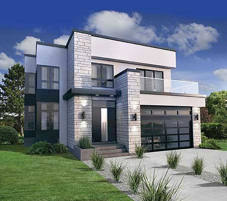 modern house plan 80826pm has a second floor master suite with a wraparound  deck. 3 GWOPUEQ