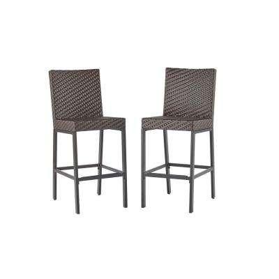 outdoor bar stools rehoboth dark brown wicker outdoor bar stool (2-pack) ZFSYWSR