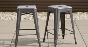 outdoor bar stools vernon hills backless stacking patio stools (2-pack) CGDTWDY