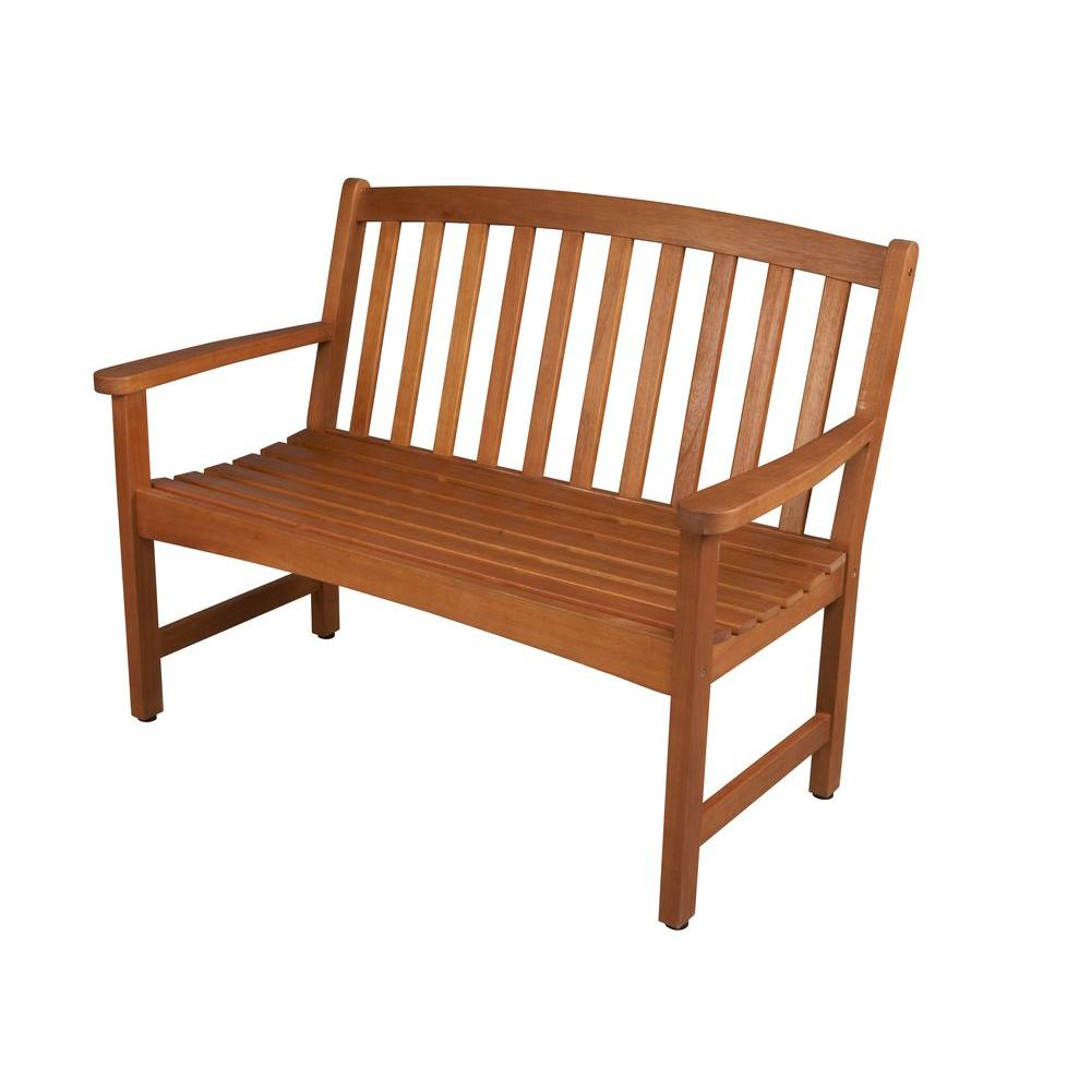 outdoor benches hampton bay adelaide 2-seater outdoor bench NMDAEOC