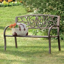 outdoor benches quick view. blooming iron garden bench NSAATFG