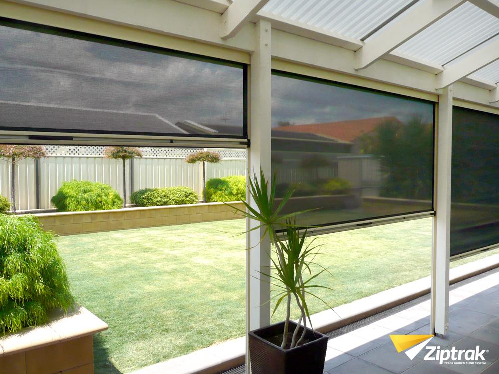 outdoor blinds ziptrak blinds for backyard ACJRTJN